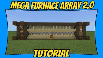 Mega Furnace Array v2.0 Tutorial [Minecraft Bedrock Edition] [MCPE] Minecraft Map & Project