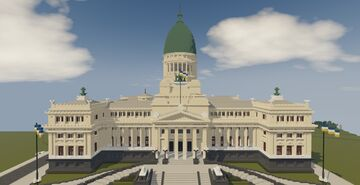Argentine Congress Palace - 1.5:1 scale replica Minecraft Map & Project