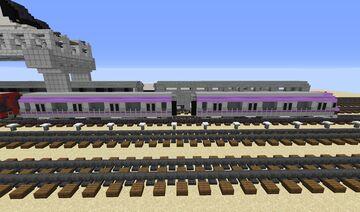 Kolkata Metro Line 2 Train Minecraft Map & Project