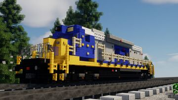 EMD SD40-2 | CSX Livery Minecraft Map & Project