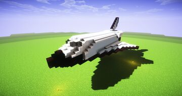 Space Shuttle Orbiter (1:1 Scale) Minecraft Map & Project