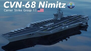 CVN-68 Nimitz 3:1Scale Minecraft Map & Project