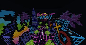 VaporWave spawn map Minecraft Map & Project