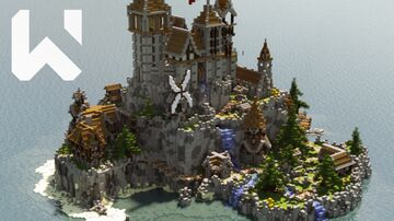 Spawn / Hub / Lobby | Medieval Island (Download + Timelapse) Minecraft Map & Project