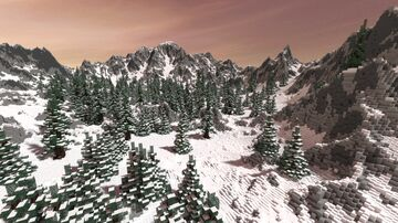 Snowy forest Minecraft Map & Project