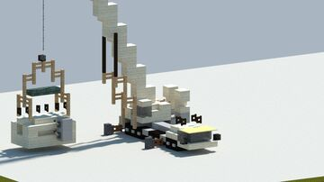 Liebherr LTM 1400-7.1 mobile crane [With Download] Minecraft Map & Project