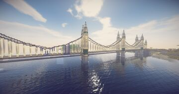 Modern Highway Bridge Minecraft Map & Project