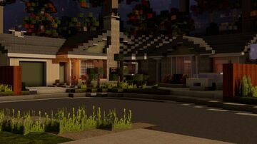 Greenstone Mid-Century Ranch Home Minecraft Map & Project