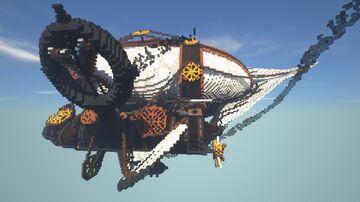 Crashing steampunk airship Minecraft Map & Project
