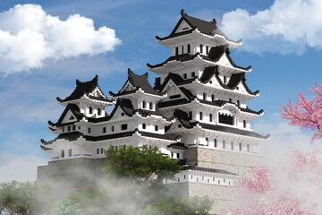 Japanese castle - Himeji | with download Minecraft Map & Project
