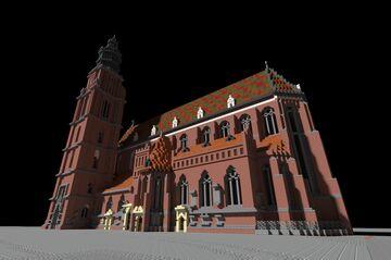 Parish church of St Elizabeth / Kościół farny św. Elżbiety Minecraft Map & Project