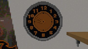 Redstone analogue clock Minecraft Map & Project
