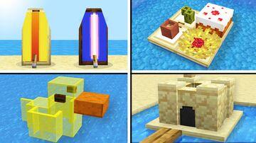10 Summer Build Tricks in Minecraft! (No Command Blocks!) Minecraft Map & Project