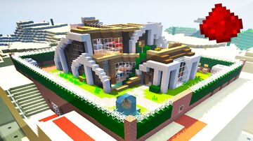 NEW REDSTONE  MODERN HOUSE SURVIVAL BASE 1.16.1 Minecraft Map & Project