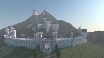 Mountain with city Minecraft Map & Project