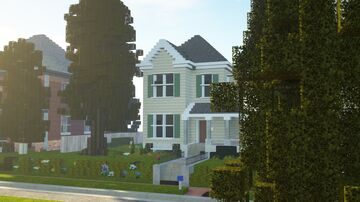 A Front Gabled Home Minecraft Map & Project