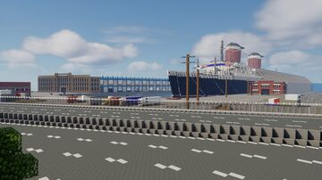 SS United States || America's flagship (1.8:1) Pier 82, Philadelphia, Pennsylvania || 2020 Minecraft Map & Project
