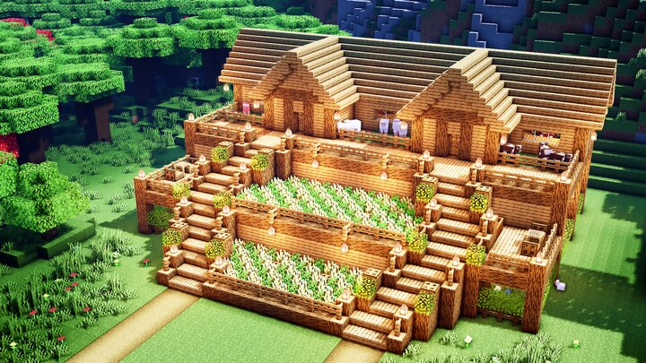 Minecraft: How To Build a Terraced Oak Survival Base ...