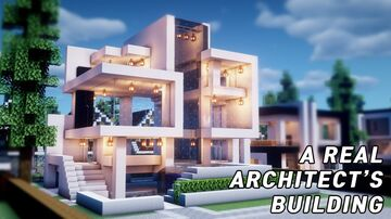 MODERN HOUSE WITH UNDERGOUND BUILDING SURVIVAL BASE 1.16.1 Minecraft Map & Project