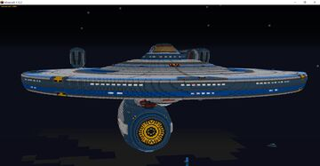 Constitution Class Refit (Custom) - Star Trek - (USS Enterprise) Minecraft Map & Project