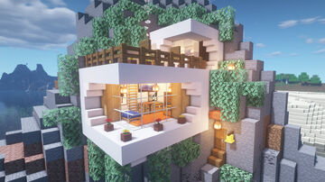 STARTER MOUNTAIN HOUSE Minecraft Map & Project