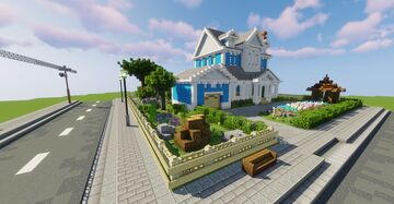Old Sailor's Home at The Blue Lakes - Interior Decorators Minecraft Map & Project