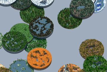 Overhead Shape 2 - 4000x4000 [worldpainter] Minecraft Map & Project