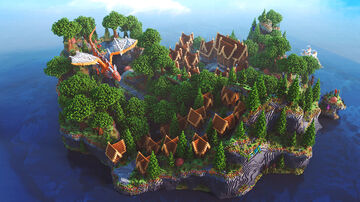 Giant Lobby ❯ Medieval Village - 600x600 Server Hub Minecraft Map & Project