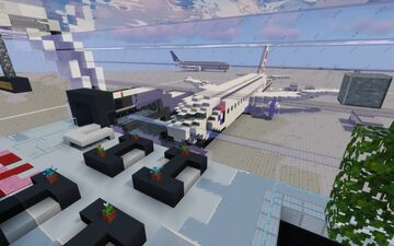 Tesla International Airport Minecraft Map & Project