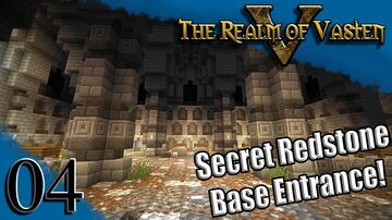 Secret Redstone Base Entrance in the Crypt! - Realm of Vasten Minecraft Map & Project