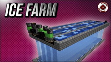 How to build a Minecraft Ice farm. Minecraft Map & Project