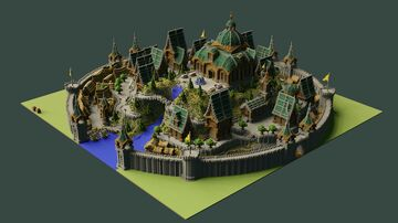 Aderlyon French Styled Survival Spawn   Aderlyon Build Team Minecraft Map & Project