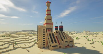 The Burning Desert - Chimney building Minecraft Map & Project