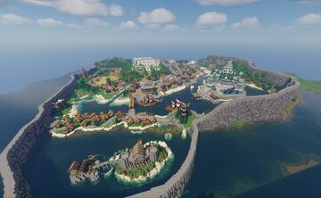 Medieval Island Kingdom Minecraft Map & Project