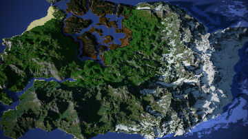 The world of three continents - 5000x5000 Minecraft Map & Project