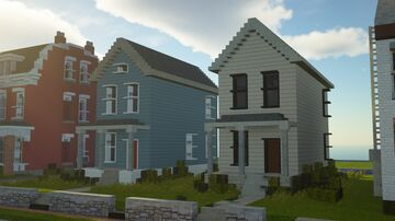 A few urban pittsburgh two story homes Minecraft Map & Project