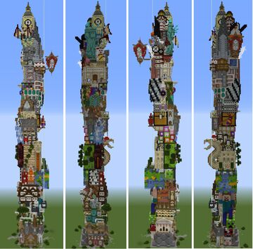 A new structure every day Minecraft Map & Project