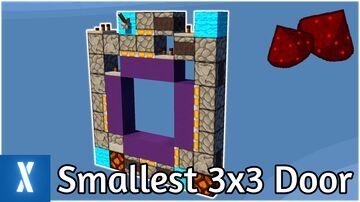 Minecraft Smallest 3x3 Redstone Piston Door   1 Wide Piston Door Minecraft Map & Project
