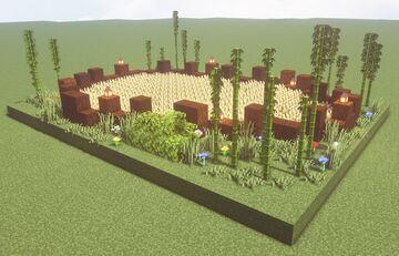 Tranquil Dark Oak Garden Minecraft Map & Project