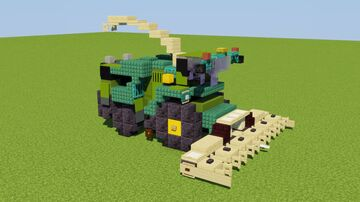 John Deere Forage Harvester Minecraft Map & Project