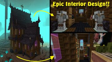 Gothic Cathedral Interior!!! Minecraft Map & Project