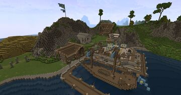 The town of Golden Reef Minecraft Map & Project