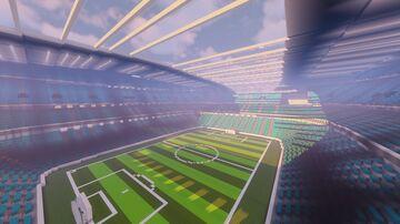 Fictional football stadium Minecraft Map & Project