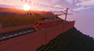 Electric Train Bombardier TRAXX Minecraft Map & Project