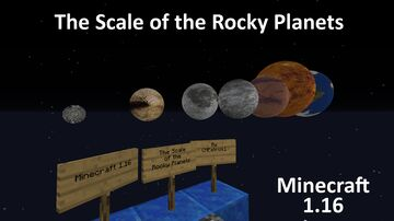 The Scale of The Rocky Planets in Minecraft 1.16 Minecraft Map & Project