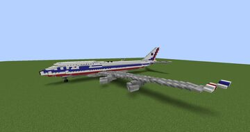 (Outdated) China Airlines Boeing 747-400 (flight 605) Minecraft Map & Project