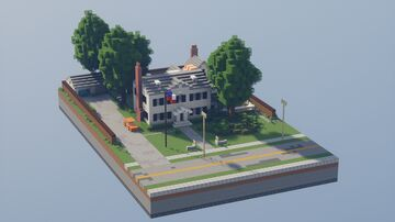 1950s Home [Full Interior with Download] - Bergen County, NJ Minecraft Map & Project