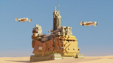 Star Wars inspired mobile mining facility Minecraft Map & Project