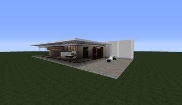 Stylish Modern House (White Version) Minecraft Map & Project