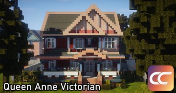 Queen Anne Victorian #3 | By: Sami3t | CCS Minecraft Map & Project
